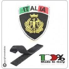 Patch Toppa Scudetto con Velcro Ricamato ITALIA + LOGO AERONAUTICA Art.IT-AERO