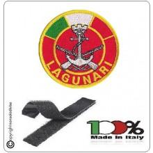 Patch Toppa Ricamata con Velcro Battaglione San Marco Lagunari con Bandiera Art.BTGSMB