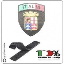Patch Toppa Scudetto con Velcro Ricamato ITALIA + LOGO MARINA MILITARE ITALIANA