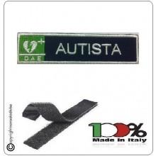 Patch Toppa Ricamata Blu + Bianco  D.A.E. + AUTISTA Art.DAE-41