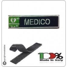 Patch Toppa Ricamata Blu + Bianco  D.A.E. + MEDICO Art.DAE-40