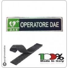 Patch Toppa Ricamata Blu + Bianco  D.A.E. + OPERATORE DAE  Art.DAE-43