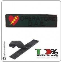 Patch Toppa Ricamata Verde Militare OPERATORE DAE   Art.DAE-47