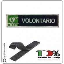 Patch Toppa Ricamata Blu + Bianco  D.A.E. + VOLONTARIO  Art.DAE-46