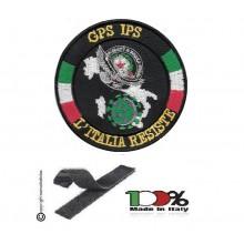 Patch Toppa Ricamata con Velcro  GPG IPS Guardia Particolare Giurata Aquila   Nuovo Logo L'ITALIA RESISTE Art. NSD-IR-4