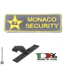 Patch Toppa con Velcro Monaco Security Esclusiva per MS Art. MS-1