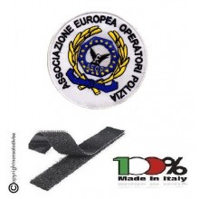 Patch Toppa Ricamata con Velcro A.E.O.P. Ass. Europea operatori di Polizia cm 8 Art. AEOP-TOP2