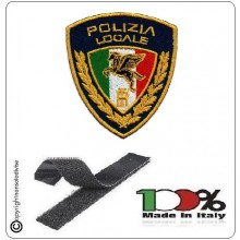 Patch Toppa Ricamata con Velcro Polizia Locale Nuovo logo 2020 Art. PL-T