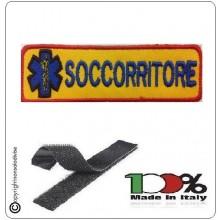 Patch Toppa Ricamata Arancio + Logo SOCCORRITORE   Art.DAE-48