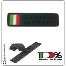 Patch Toppa Ricamata Verde Militare SOCCORSO SANITARIO Art.DAE-49