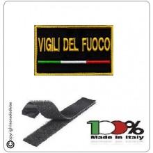 Toppa Patch Ricamata con Velcro Vigili del Fuoco Novità Art.VVFF-N