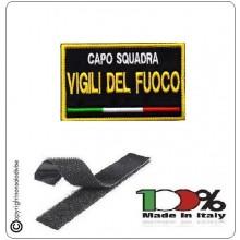Toppa Patch Ricamata con Velcro Vigili del Fuoco CAPO SQUADRA Novità Art.VVFF-CS