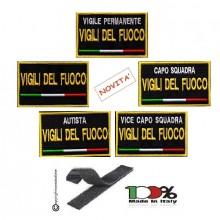 Toppa Patch Ricamata con Velcro Vigili del Fuoco Mansioni Novità Art. VVFF-MANSIONI