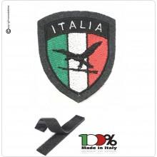 Patch Toppa Scudetto con Velcro Ricamato ITALIA + LOGO Guardia di Finanza A.T.P.I. Versione Nera  Art.IT-ATPI-NE