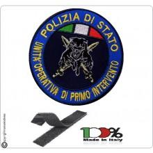 Patch Toppa con Velcro Polizia di Stato Unità Operativa di Primo Intervento Pantera + Spade Art.PS-PANTERA