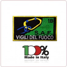 Patch Toppa Ricamata con Velcro Corso Vigili del Fuoco S.A.F. 1B Art.SAF-1B