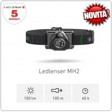 Torcia Frontale Professionale 100 lm Novità LED Lenser® MH2 Speleologo Roccia Protezione Civile  Art.501503