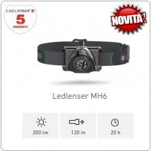 Torcia Frontale Professionale 200 lm Novità LED Lenser® MH6 Speleologo Roccia Protezione Civile  Art.501502