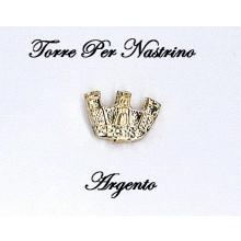 Torretta Riportino Micro per Nastrini Argento Art.T-ARGENTO