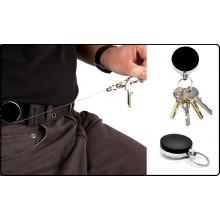 Portachiavi Porta Chiavi Retrattile  con Clip da Cintura Guardie Giurate Vigilanza Polizia Carabinieri Guardia di Finanza ART.PORT-01112