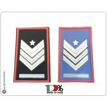 Tubolari Plastificati Carabinieri Invernali o Estivi Nuovi Gradi Riforma Brigadiere Capo con Carica Speciale Art.CC-NEW-3