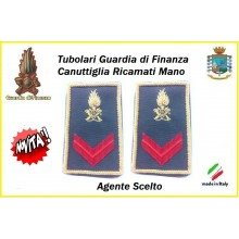Gradi Tubolari Guardia di Finanza Ricamati Canuttiglia New Agente Scelto  Art.GDF-T20