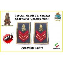 Gradi Tubolari Guardia di Finanza Ricamati Canuttiglia New Appuntato Scelto Art.GDF-T21