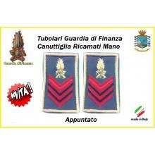 Gradi Tubolari Guardia di Finanza Ricamati Canuttiglia New Appuntato Art.GDF-T19