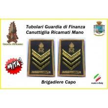 Gradi Tubolari Guardia di Finanza Ricamati Canuttiglia New Brigadiere Capo Art.GDF-T24