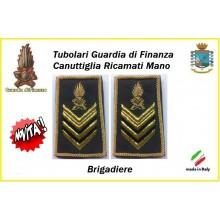 Gradi Tubolari Guardia di Finanza Ricamati Canuttiglia New Brigadiere Art.GDF-T23