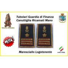 Gradi Tubolari Guardia di Finanza Ricamati Canuttiglia New Maresciallo Logotenente Art.GDF-T29
