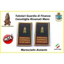 Gradi Tubolari Guardia di Finanza Ricamati Canuttiglia New Maresciallo CAiutante Art.GDF-T28