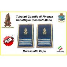Gradi Tubolari Guardia di Finanza Ricamati Canuttiglia New Maresciallo Capo Art.GDF-T27