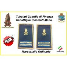 Gradi Tubolari Guardia di Finanza Ricamati Canuttiglia New Maresciallo Ordibnario Art.GDF-T26