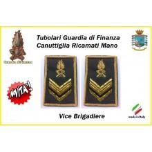Gradi Tubolari Guardia di Finanza Ricamati Canuttiglia New Vice Brigadiere Art.GDF-T22