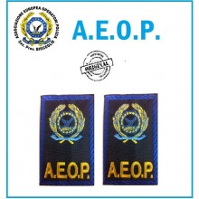 Gradi Tubolari Ricamati A.E.O.P. Logo + Scritta Art.AEOP-G