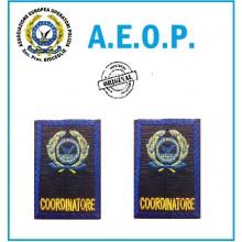 Gradi Tubolari Ricamati A.E.O.P. Logo + COORDINATORE Art.AEOP-C