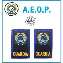Gradi Tubolari Ricamati A.E.O.P. Logo + GUARDIA Art.AEOP-GG