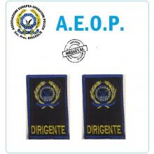 Gradi Tubolari Ricamati A.E.O.P. Logo + DIRIGENTE Art.AEOP-GG-D