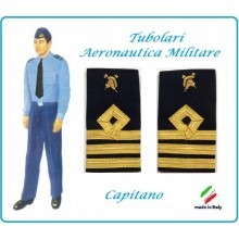 Gradi Tubolari Canuttiglia Ricamato Capitano Aeronautica Militare Corpo del Genio Ruolo Speciale Novità Art.AERO-20