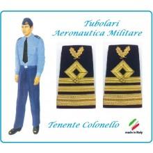 Gradi Tubolari Canuttiglia Ricamato Tenente Colonello Aeronautica Militare Novità Ruolo delle Armi Art.AERO-12