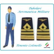 Gradi Tubolari Canuttiglia Ricamato Tenente Colonello Aeronautica Militare Novità Ruolo Naviganti Categoria Naviganti  Art.AERO-13