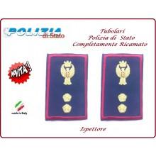 Gradi Tubolari Ricamato Polizia di Stato Ispettore Novità Art.PS-T14