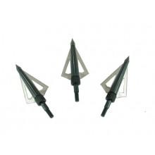 Punte Per Frecce Professionali Lama Acciaio Arco Balestra Caccia  3 Lame Art. CF142D