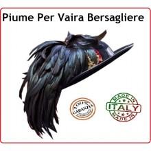 Piumetto per Cappello Vaira Moretto Bersaglieri Esercito Italiano Prodotto Italia Art.NSD-PIUMETTO