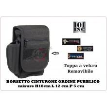 Borsetto Tasca Nera Multiuso per Cinturone Cordura Personalizzato Con Ricamo Del Tuo Gruppo Removibile A velcro INC101 359790 Art.INC101-2G66