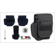 Borsetto Tasca Professionale Multiuso per Cinturone Cordura Vega Holster Colore Blu Nevy o Nero  Art.2G66
