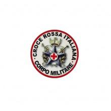 Adesivo o Vetrofania Corpo Croce Rossa Militare Esercito Italiano EI CRI Militare Tuscan   Art.VET-2