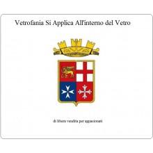 Adesivo o Vetrofania Marina Militare Italiana Cm 7x10 Art.FAV-VET-2