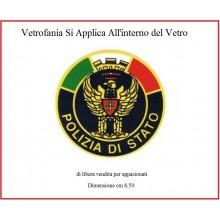 Adesivo o Vetrofania Polizia di Stato PS Prodotto Italiano Art.FAV-VET3